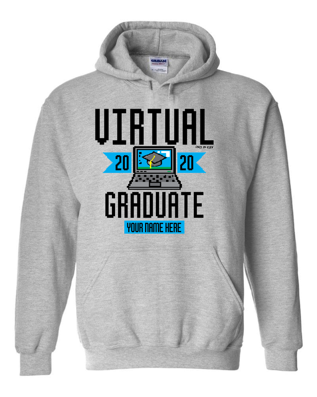 "(Customize Your Name) ""Virtual Class of 2020 Graduation Shirt"" on Gray - Only in Clev"