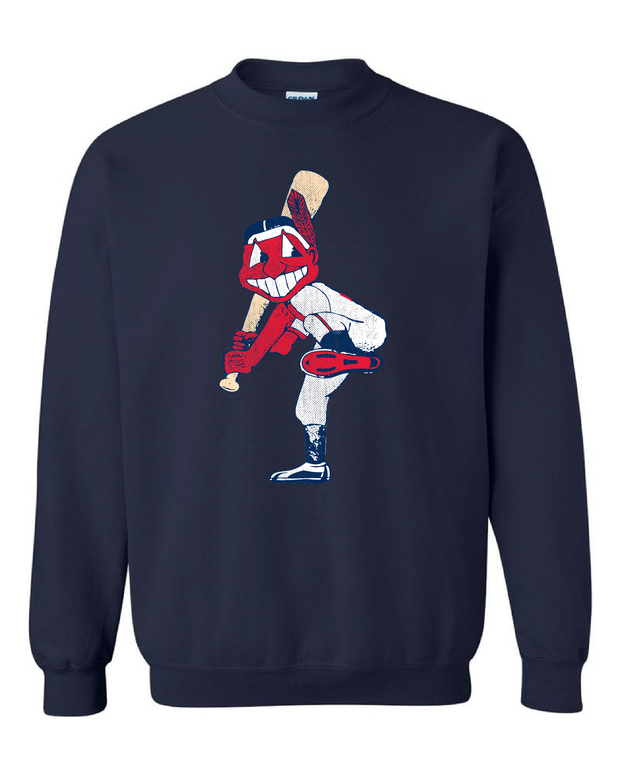 """Cleveland Slugger"" Solid on Navy"