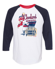 """Cleveland Baseball Designs"" on 3/4 Sleeves Raglans"