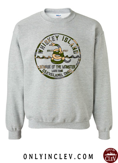 Whiskey Island Camo Long Sleeve T-Shirt - Only in Clev