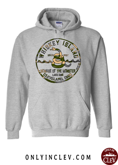 Whiskey Island Camo Hoodie - Only in Clev