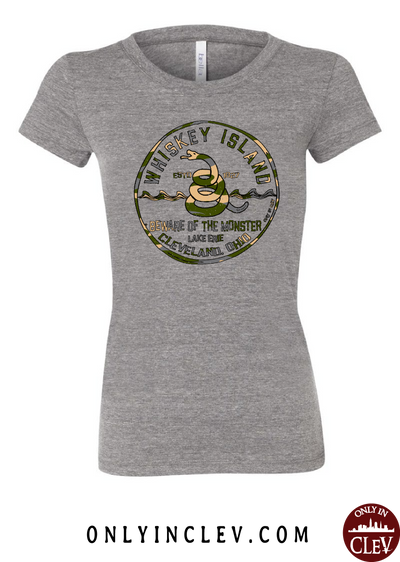 Whiskey Island Camo Womens T-Shirt - Only in Clev
