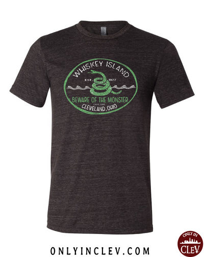 Whiskey Island on Black T-Shirt
