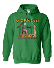 """Work From Home"" (Women's) on Kelly Green - Only in Clev"