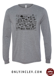 West Park Historical Shirts on Gray (Black Font) - Only in Clev