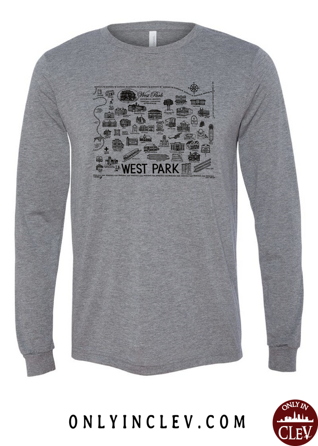 West Park Historical Shirts on Gray (Black Font)