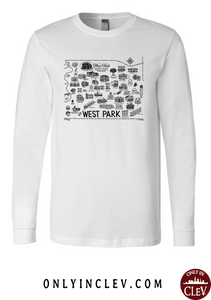 West Park Historical Shirts on White (Black Font)
