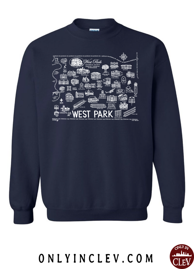 West Park Historical Shirts on Navy (White Font) - Only in Clev