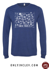 West Park Historical Shirts on Navy (White Font)