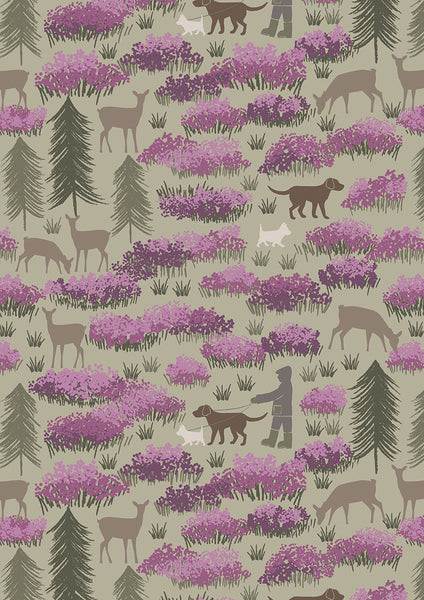A Walk in the Glen on Field Green, Fabric, Lewis and Irene UK