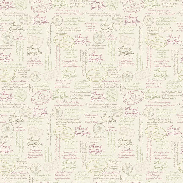 Anne of Green Gables - Quotes Cream (45 x 110cm Fabric Piece)