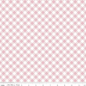 Wonderland Pink and White Gingham (Only 1 x FQ left in stock)
