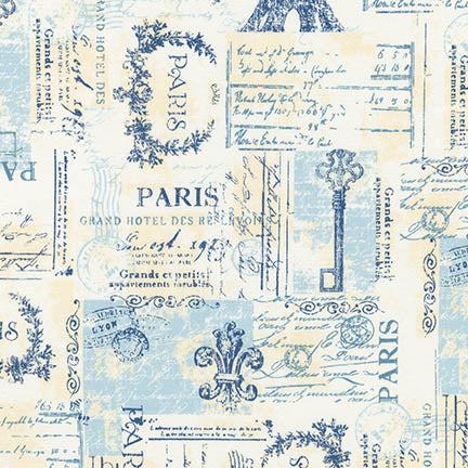 Dusty Blue Parchment Stamps