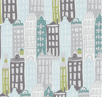 City Life Cityscape (40 x 110cm Piece of Fabric)