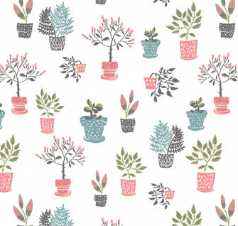 City Life Houseplants (40 x 110cm Fabric Piece)