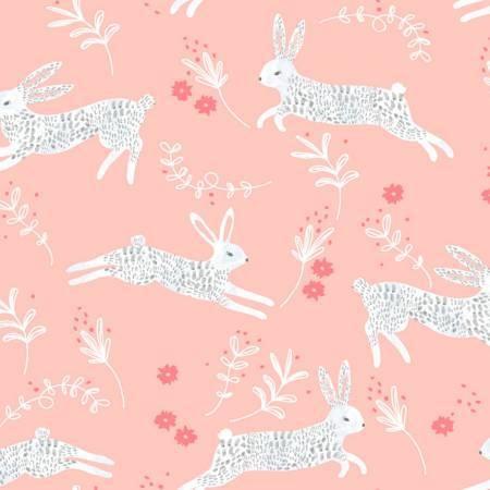 Frolic - Hares on Peach