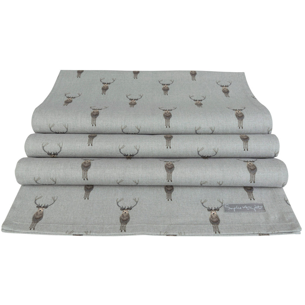 Highland Stag Table Runner