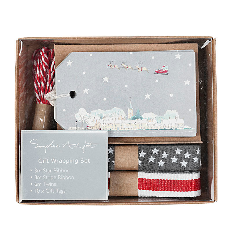 Starry Night Ribbon & Tag Gift Wrapping Set