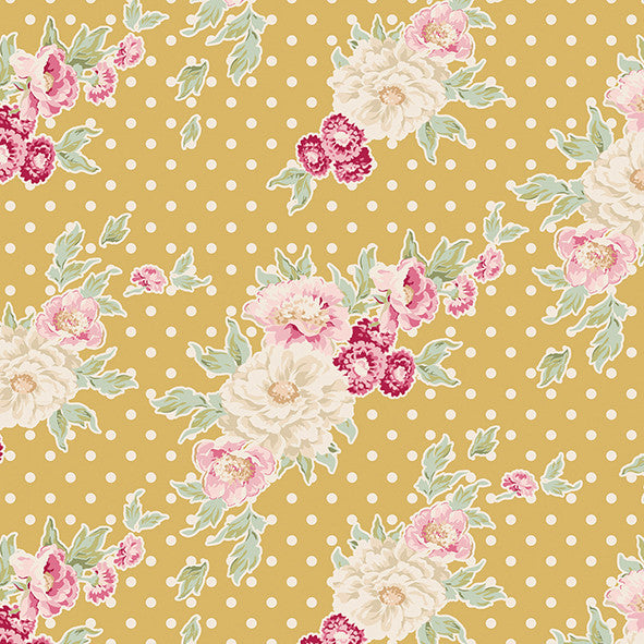 Cybill Tan Yellow (30 x 110cm Fabric Piece)