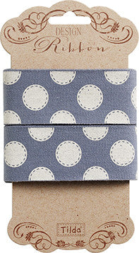 Sewn Spot Blue Ribbon 30mm