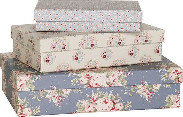 Sweetheart Patterned Boxes (Set of 3)