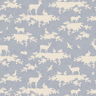 Forest Light Blue (48 x 110cm Fabric Piece)