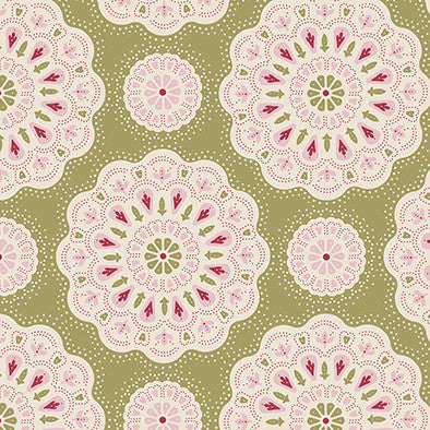 Doilies Green (30 x 110cm Fabric Piece)