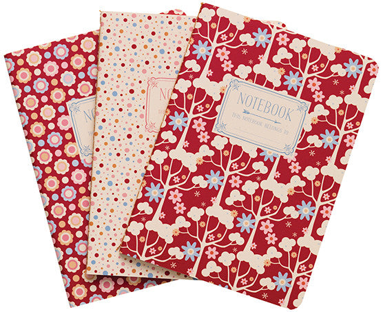 Candy Bloom A6 Notebooks (3 Pack)