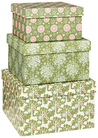 Pardon My Garden Patterned Boxes (Set of 3)