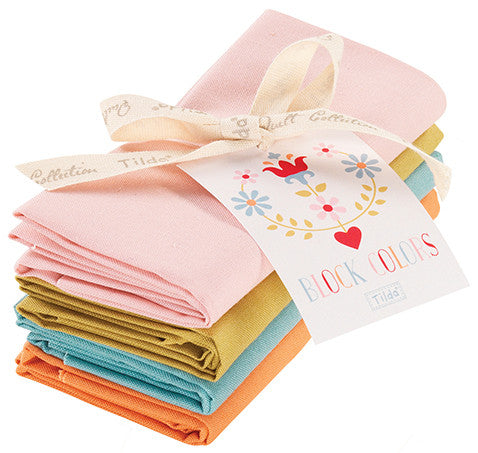 Cabbage Rose & Memory Lane Fat Quarter Bundle Solids - 4 Pieces