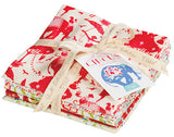 The Circus Red Fat Quarter Bundle (5pcs)