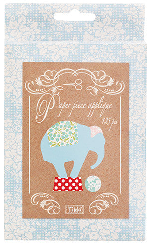 Circus Paper Piece Applique - Elephants