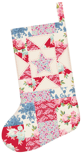 Large Patchwork Christmas Stocking Kit
