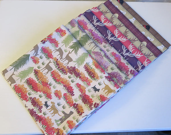A Walk in the Glen collection, Lewis & Irene, Fabric, 9 piece fat quarter bundle.