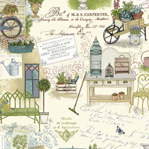 Antique Garden on Cream (Only 1 x FQ left in stock)