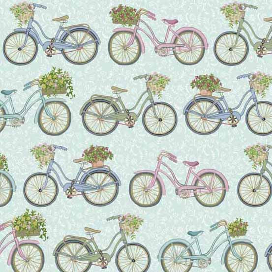 Antique Bicycles on Blue