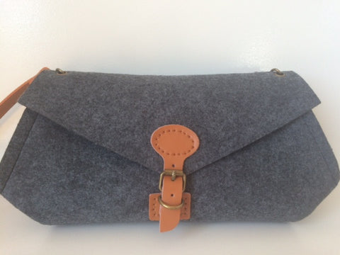 Luella Clutch (Large) with Camel Handle & Clasp
