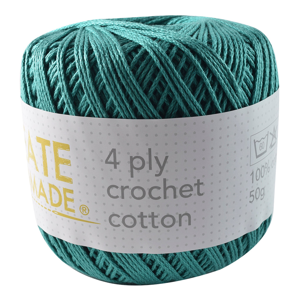 Teal 4Ply Crochet Cotton