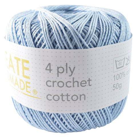 Powder Blue 4Ply Crochet Cotton