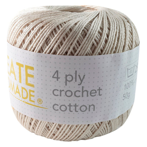 Natural/Cream 4Ply Crochet Cotton