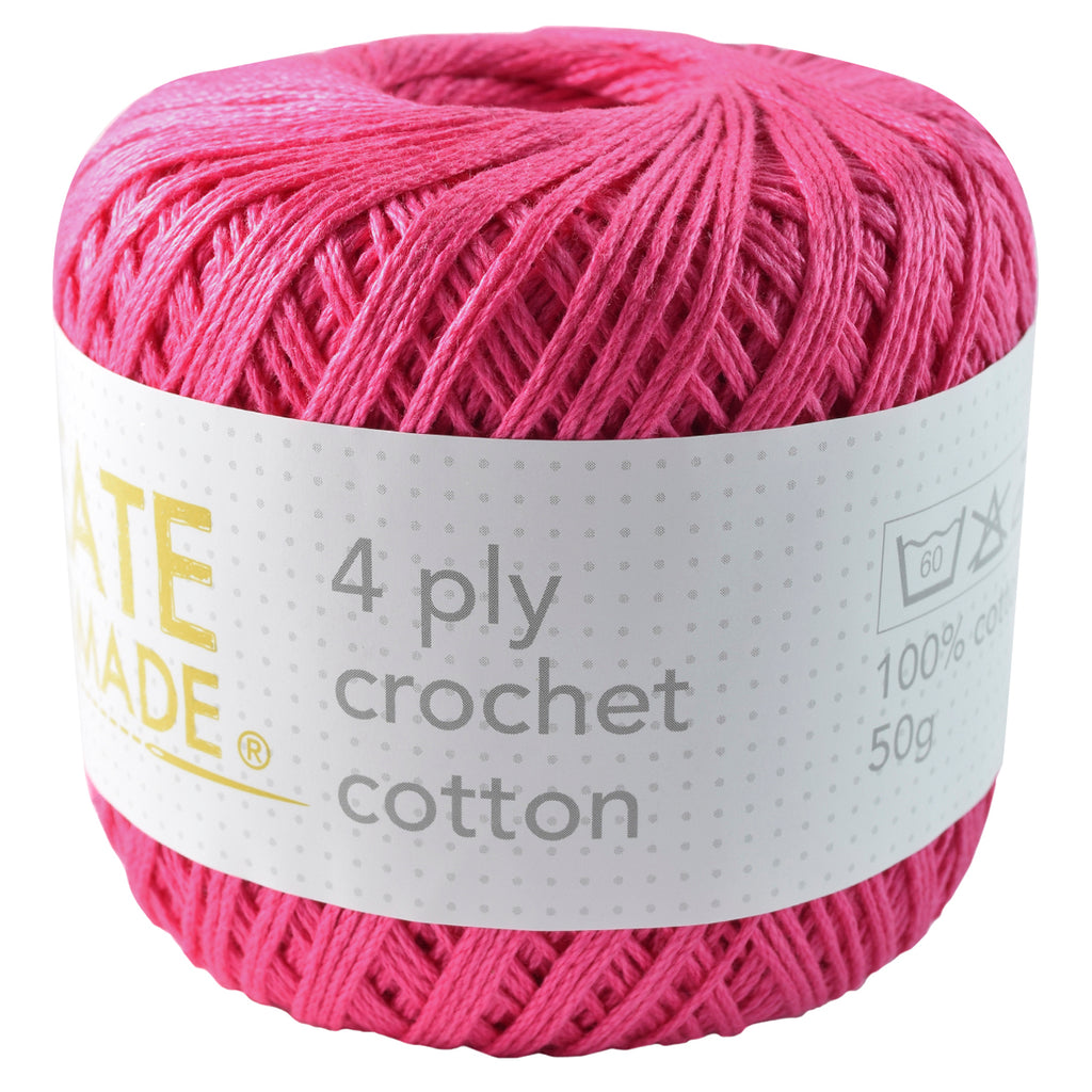 Pink 4Ply Crochet Cotton