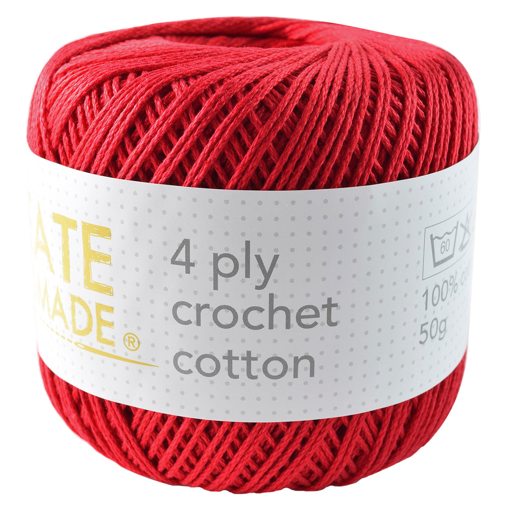 Red 4Ply Crochet Cotton