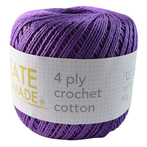 Purple 4Ply Crochet Cotton