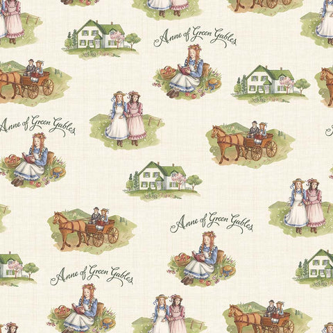 Anne of Green Gables - Cream (40 x 110cm Fabric Piece)