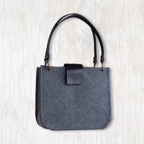 Grace Tote with Black Handles