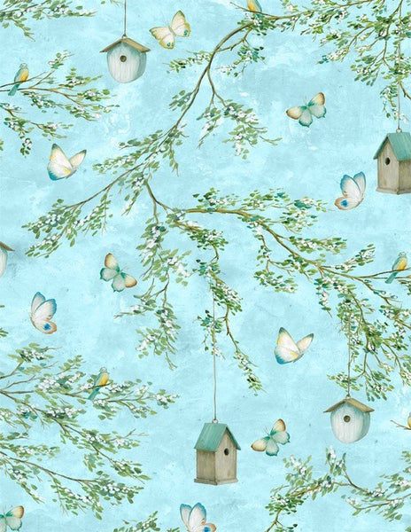 Lakeside Retreat Branches - Light Blue