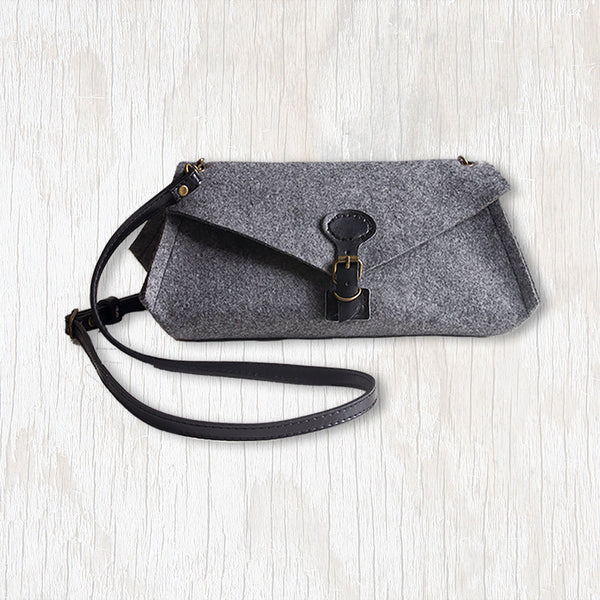 Luella Clutch (Large) with Black Handle & Clasp