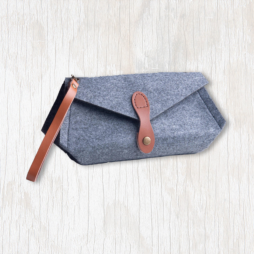 Luella Clutch (Small) with Camel Handle & Clasp