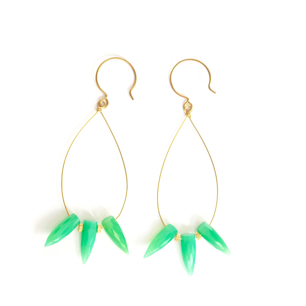 tricia chrysoprase hoops
