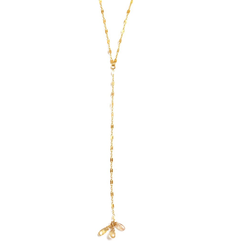 Y topaz necklace